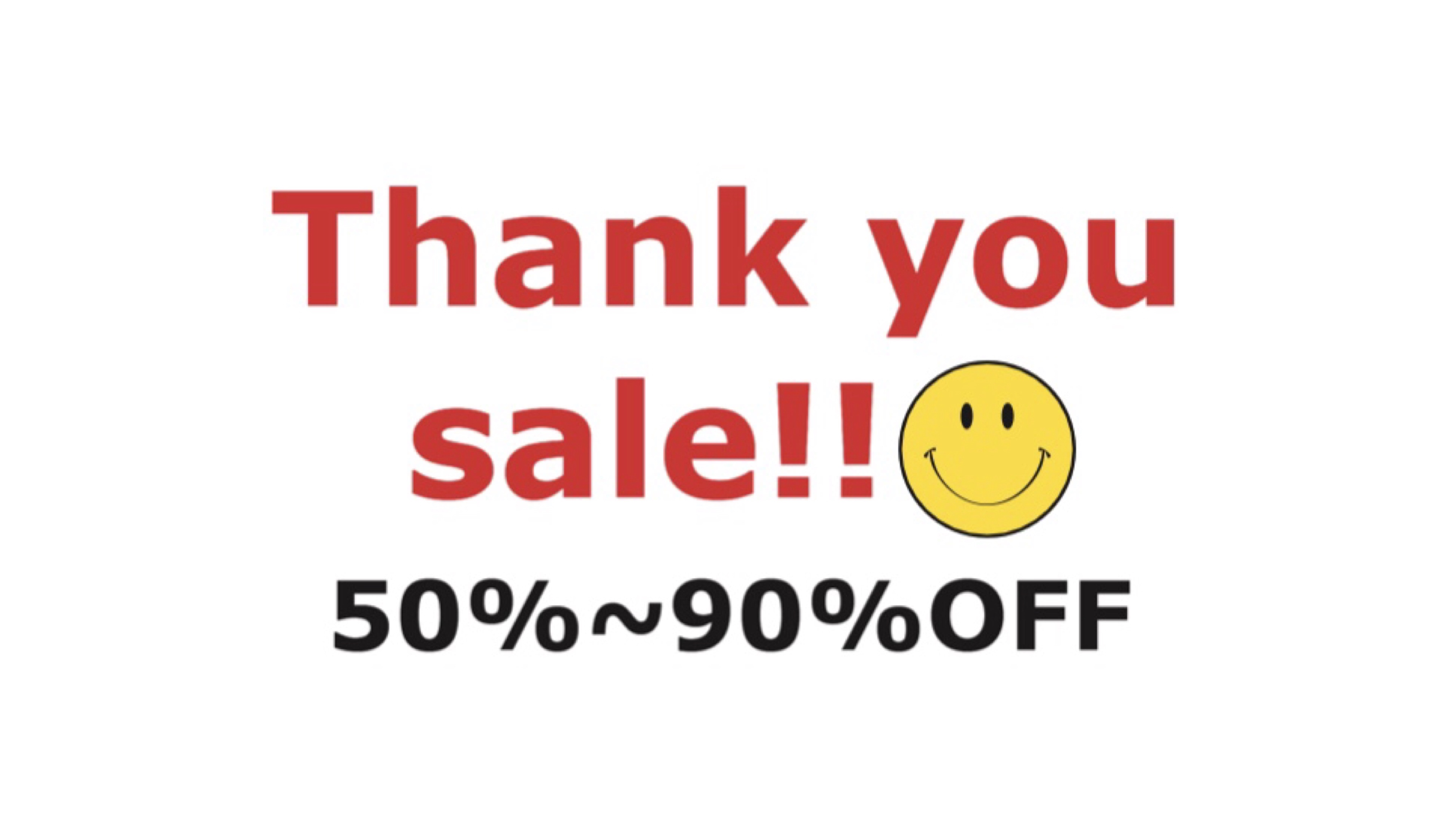 Thank you sale